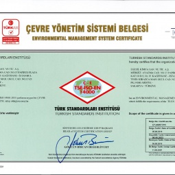 Egesil Kimya Environmental Management System Certificate