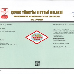 Egesil Kimya Environmental Management System Certificate Ap:2