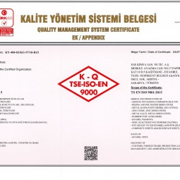 Ege Kimya Quality Management System Certificate Ap.E