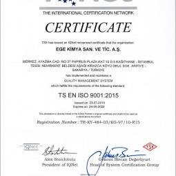 Ege Kimya TS Certificate