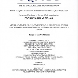 Ege Kimya TS Certificate Ap-2