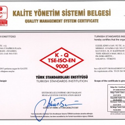 Egesil Kimya Quality Management System Certificate