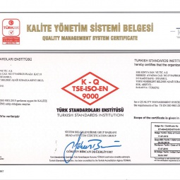 Quality Management System Sertificate ISO 9000